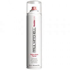 Paul Mitchell  |   Сухой аэрозольный лак средней фиксации Super Clean Spray